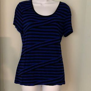 Cable and Gauge top XL royal blue and black